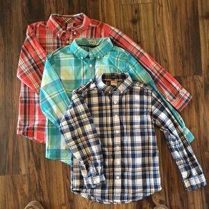 THREE Gymboree Shirts Size 7-8